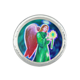 Anel chapeado da prata esterlina de Raphael do
