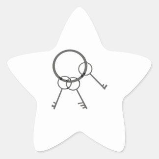 Anel chave adesito estrela
