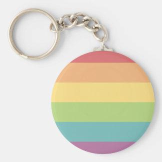 Anel chave do orgulho do arco-íris chaveiro