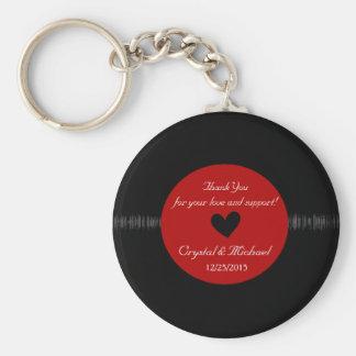 Anel chave personalizado favor do casamento do chaveiro