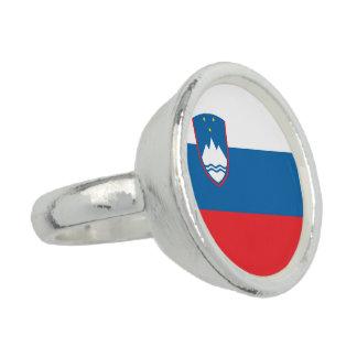Anel Com Imagem Bandeira de Slovenia