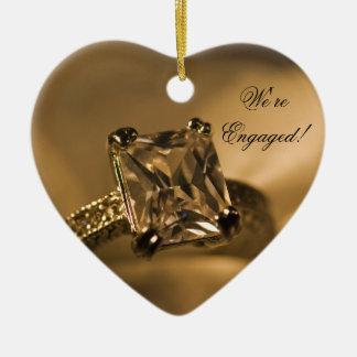 Anel de noivado de Diamante da princesa Corte Ornamento De Cerâmica