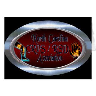 Anel de prata oval do logotipo da associação do NC Cartão