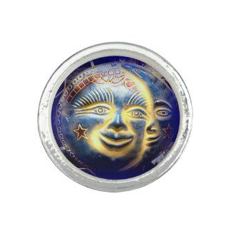 anel redondo da cara de lua da cara do sol