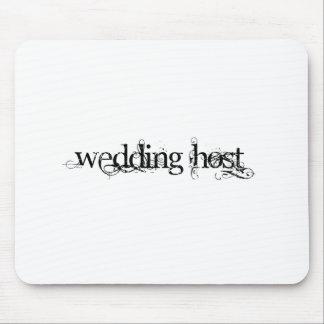 Anfitrião do casamento mouse pad