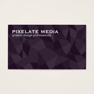 Angular escuro profissional modelado cartão de visitas