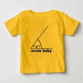 Ângulo agudo engraçado geeky camiseta para bebê