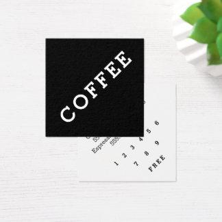 Cartão De Visitas Quadrado Ângulo escuro do cartão de perfuração do café da