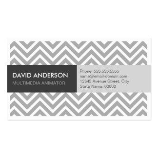 Animador dos multimédios - Chevron cinzento Cartão De Visita