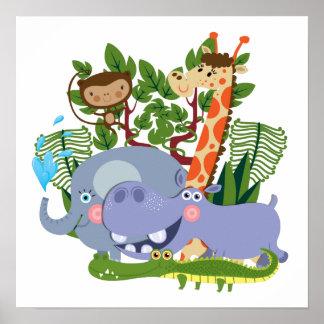 Animais bonitos do safari poster