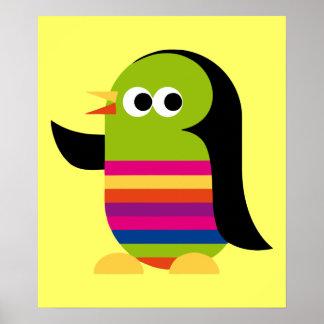 Animais da arte dos desenhos animados do pássaro posters