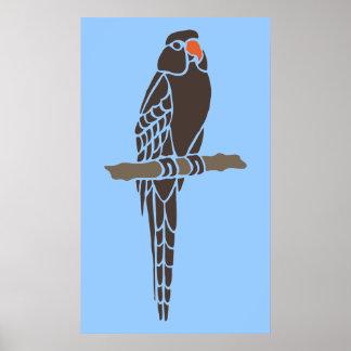 Animais da arte dos desenhos animados do pássaro impressão