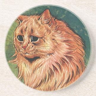 Animais de animal de estimação do vintage, gato porta-copos
