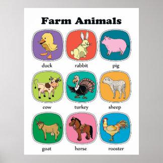 Animais de fazenda poster