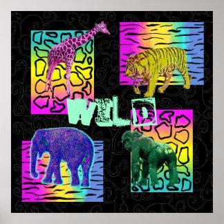 Animais de néon selvagens posteres