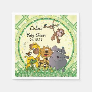 Animais do bebê da selva do safari guardanapo de papel