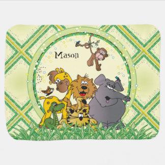 Animais do bebê da selva do safari mantas para bebe