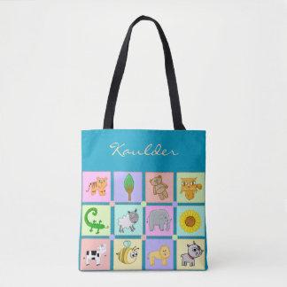 Animais do bebê para o bolsa/bolsa do bebê de bolsas tote