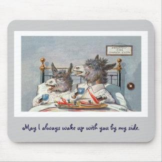 Animais engraçados do vintage - dois asnos mouse pad