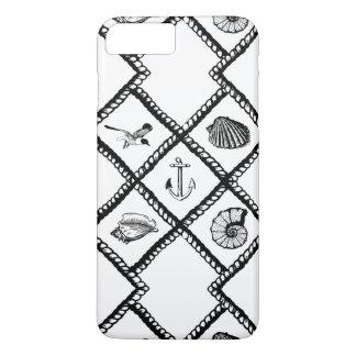 Animais náuticos da corda e de mar capa iPhone 8 plus/7 plus