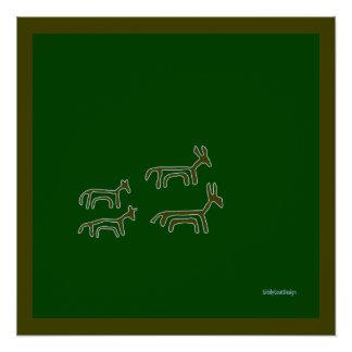 Animais pré-históricos legal da decoração da poster perfeito