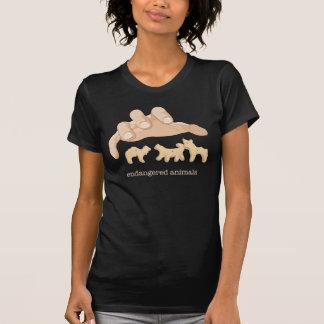 Animais pstos em perigo camiseta