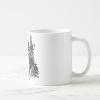 Animais selvagens do fanfarrão e do touro caneca de café