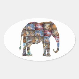 Animal amigável majestoso: Azulejos de mármore do Adesivos Em Formato Ovais
