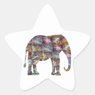 Animal amigável majestoso Azulejos de mármore do Adesivos Em Forma De Estrelas