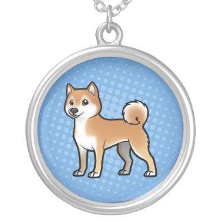 Animal de estimação customizável colar banhado a prata