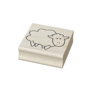 Animal de fazenda bonito dos carneiros do bebê dos carimbo de borracha