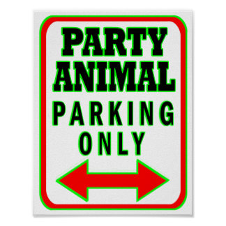 Animal de partido que estaciona somente poster