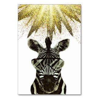 Animal do estilo da zebra do hipster cartão
