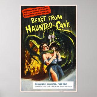 Animal do poster assombrado da caverna