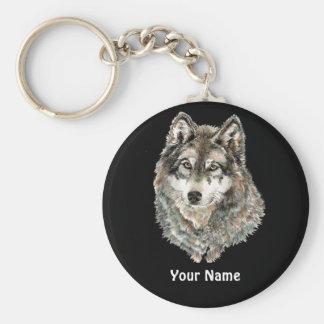 Animal feito sob encomenda da aguarela do lobo do  chaveiro