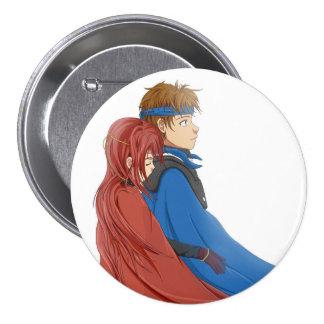 Anime Suikoden Flik e abraço de Odessa Bóton Redondo 7.62cm