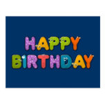 aniversário animal do alfabeto cartão postal