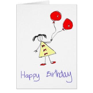 aniversário cartão comemorativo