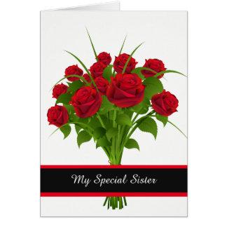 Aniversário Cartão-Minha irmã especial Cartão
