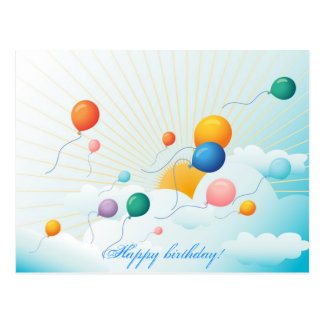aniversário cartão postal