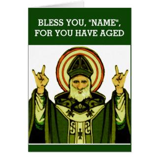 Aniversário católico irlandês cartão