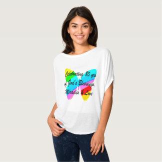 ANIVERSÁRIO COLORIDO do 80 da BORBOLETA Camisetas