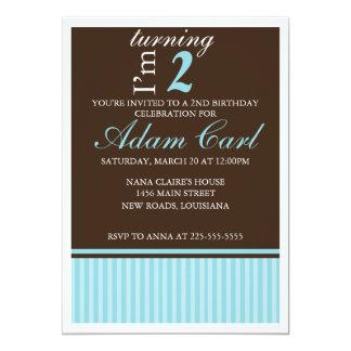 Aniversário Convite 12.7 X 17.78cm