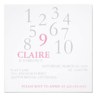 Aniversário Convite Quadrado 13.35 X 13.35cm