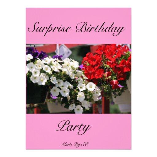 aniversário da surpresa convite personalizado