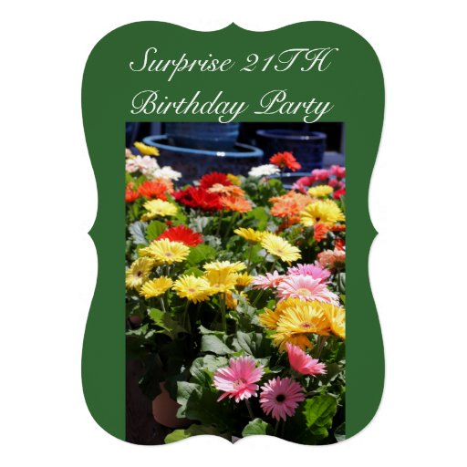 aniversário da surpresa convite personalizados