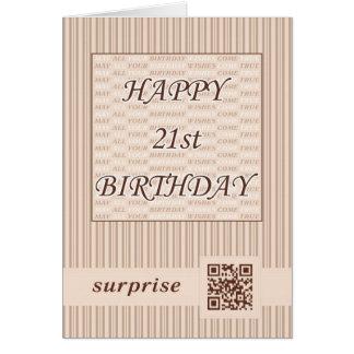 Aniversário de 21 anos feliz! Cartão de