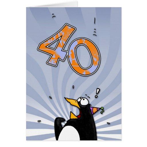 Aniversário de 40 anos - cartão da surpresa do pin