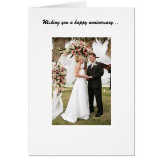 Aniversário de casamento cartão comemorativo