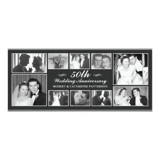 """Aniversário de casamento da celebração 50th da convite 10.16"""" x 23.49cm"""